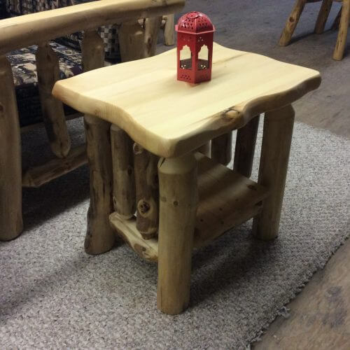 End Table Live Edge