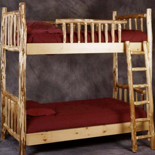 Pioneers Bunk Beds Pioneer Handcrafted Log Furniture